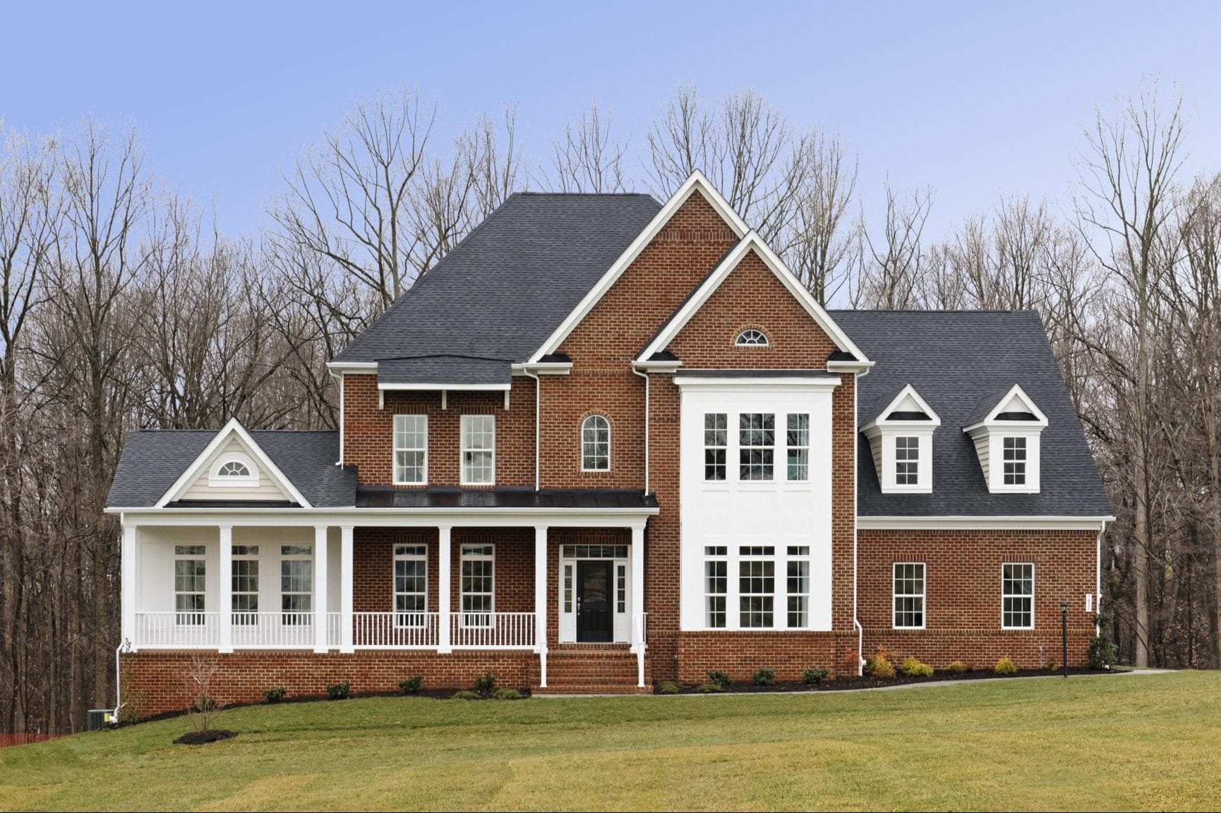 Exterior photo of Georgetown II model at Estates at Schooley Mill
